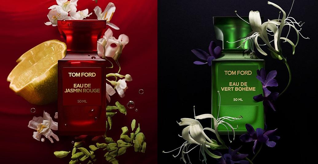 Новый дуэт женских композиций от Tom Ford: Eau de Jasmin Rouge Eau de Toilette и Eau de Vert Boheme Eau de Toilette.
